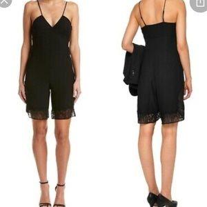 MAJE Black Lace Isadora Romper Size 2